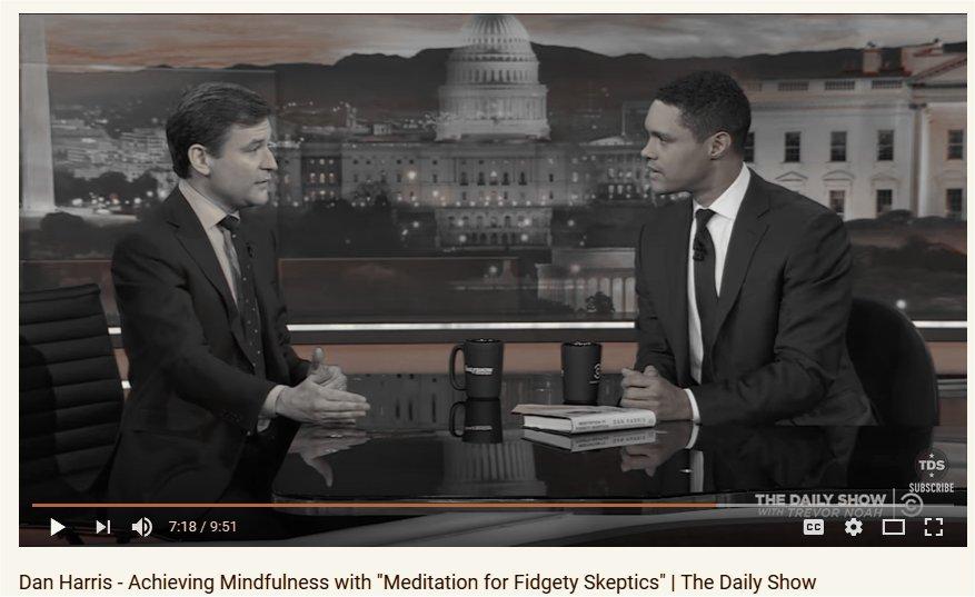 Mindfulness meditation and panic attacks; Dan Harris and Trevor Noah