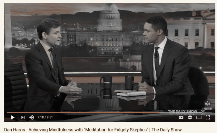 Mindfulness meditation and panic attacks; Dan Harris and Trevor Noah